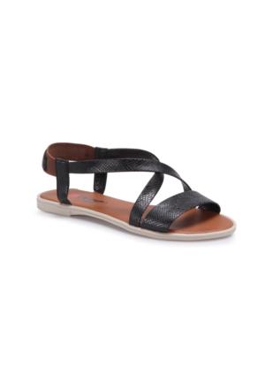 Carmens Rb009 Siyah Kadın Sandalet