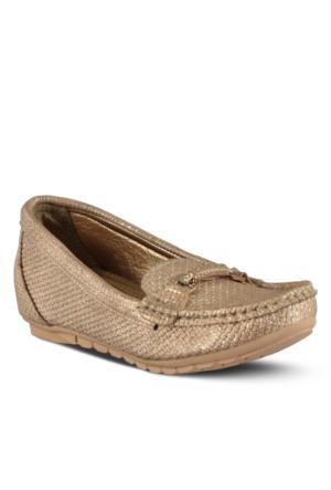 Marjin Juni Dolgu Topuk Ayakkabı Altın