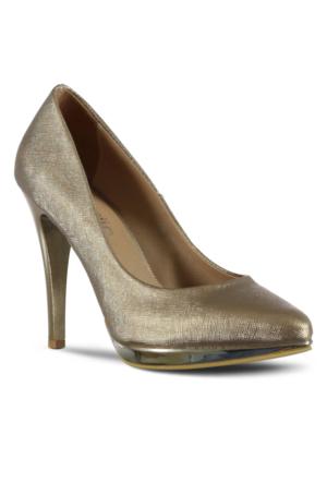 Marjin Novat Topuklu Ayakkabı Bakır