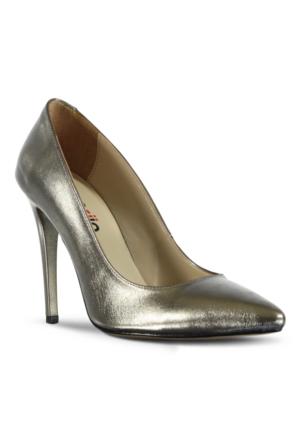 Marjin Zela Topuklu Ayakkabı Platin