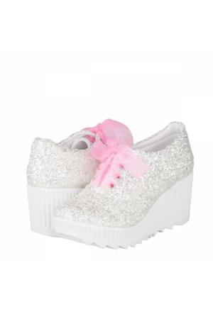 Stilo Gelin Dolgu Topuklu Ayakkabı