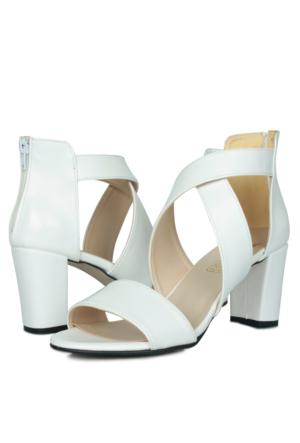 Loggalin 375854 031 468 Kadın Beyaz Sandalet