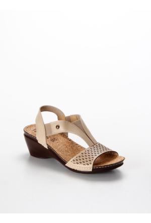 Pierre Cardin Günlük Kadın Dolgu Topuk Sandalet Pc-1392-3728 Pc-1392-3728.558