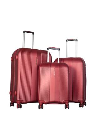 Bese Polycarbonate Valiz Seti BS10589-Set Kiremit