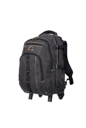 Moda Branda Tekerlekli Sırt Çantası MD5003 Siyah