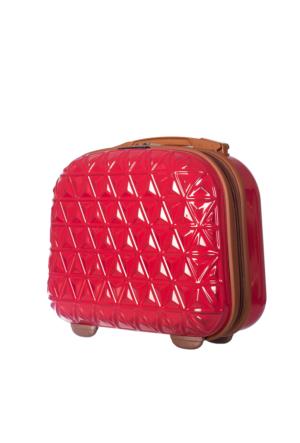 ÇÇS Polycarbonate Makyaj Çantası ÇÇSMKYJ5151 Kırmızı