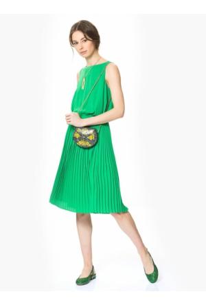 Roman Yeşil Parlak Kokteyl Ayakkabı