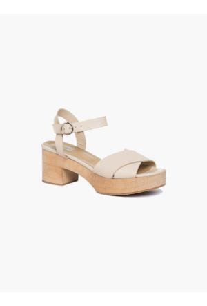 Roman Y17 Aksesuar Bej Rengi Yazlık Sandalet