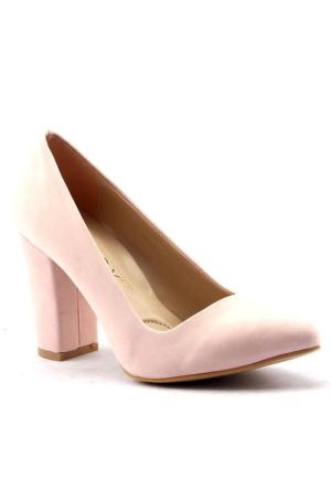 Paddy 2835 9 cm Kalın Topuk Stiletto Bayan Süet Ayakkabı
