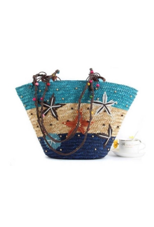 Hob's Yıldız Hasır Plaj Çanta