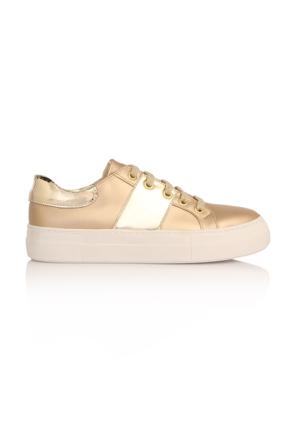 Esmoda SM-8000 Altın Deri Bayan Günlük Ayakkabı