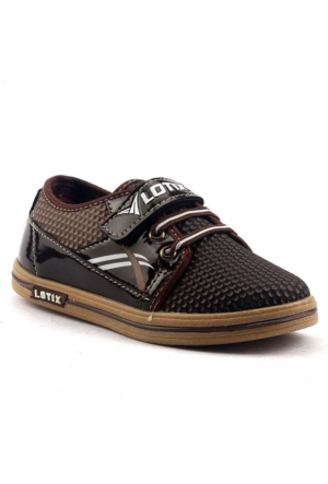 Lotix 15 Keten Günlük Cırtlı Erkek Çocuk Spor Ayakkabı