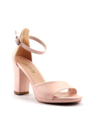 Miss Bersay Günlük 8,5 cm Topuklu Sandalet Bayan Cilt Ayakkabı