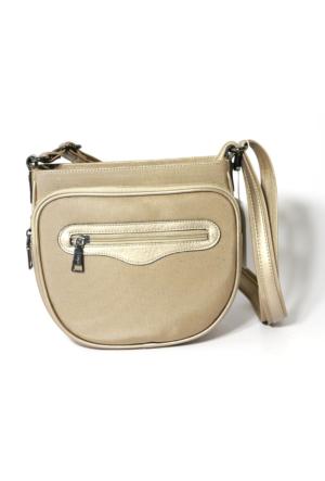 Axpe Kadın Çapraz Askılı Çanta - Altın