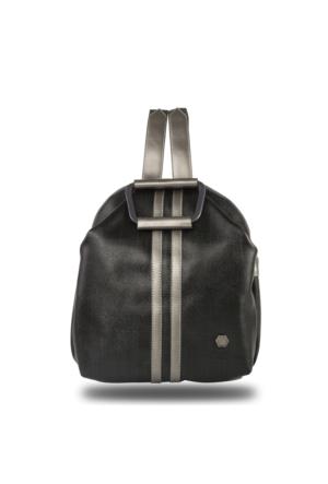 Silver Polo Modern Siyah Sırt Çantası