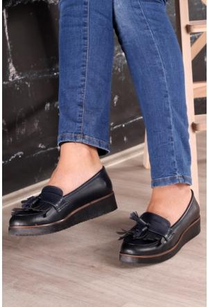 Modaateşi Püsküllü Oxford Ayakkabı 01 Lacivert