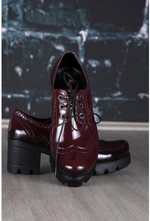 Modaateşi Oxford Ayakkabı 25 Bordo