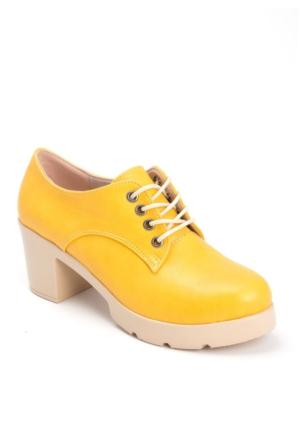 Modaateşi Bia Sarı Cilt Kadın Oxford Ayakkabı