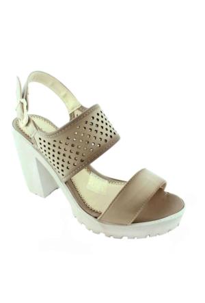 Sms 1183 Topuklu Kadın Ayakkabı Vızon