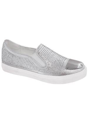 Guja 125 Kadın Taşlı Ayakkabı Gumus