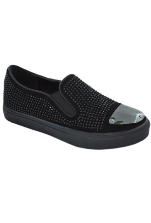 Guja 125 Kadın Taşlı Ayakkabı Siyah