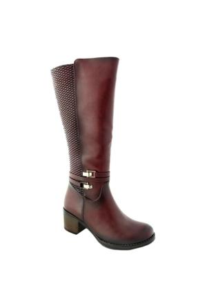 Sms 1675 Kadın Çizme Bordo
