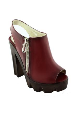 Sms 2620 Topuklu Kadın Ayakkabı Kırmızı