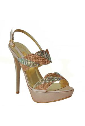 Dream 3064 Topuklu Kadın Ayakkabı Vızon