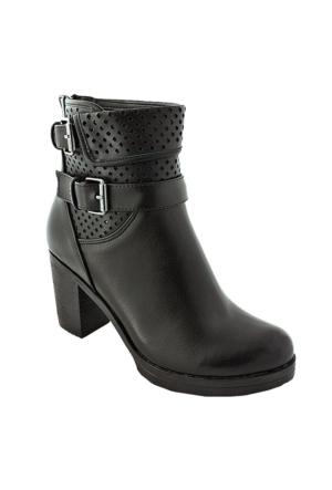 Sms 3538 Topuklu Kadın Bot Siyah