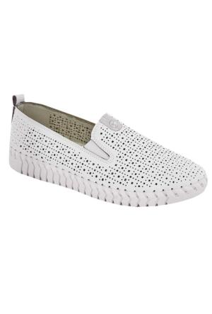 Tofima 4110 Kadın Günlük Delikli Ayakkabı Beyaz