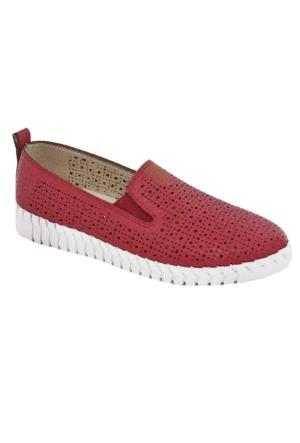 Tofima 4110 Kadın Günlük Delikli Ayakkabı Kırmızı