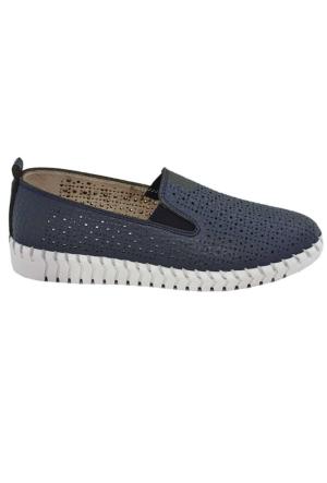 Tofima 4110 Kadın Günlük Delikli Ayakkabı Lacıvert