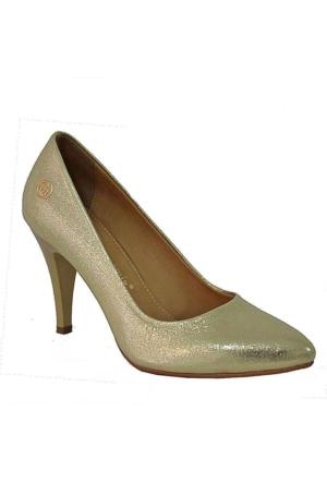 Mammamia D15Ya-3640 Sivri Burun Topuklu Kadın Stiletto Dore