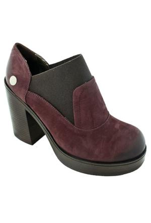 Mammamia D16Ka-870 Nubuk Kadın Günlük Ayakkabı Bordo