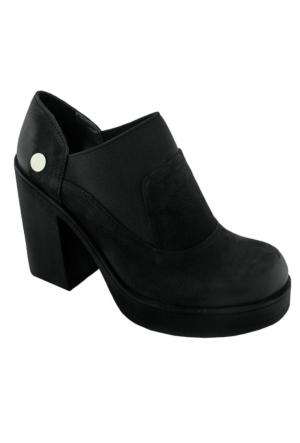 Mammamia D16Ka-870 Nubuk Kadın Günlük Ayakkabı Siyah Nubuk