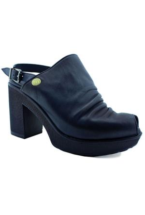 Mammamia D16Ys-1320 Deri Topuklu Kadın Ayakkabı Lacıvert