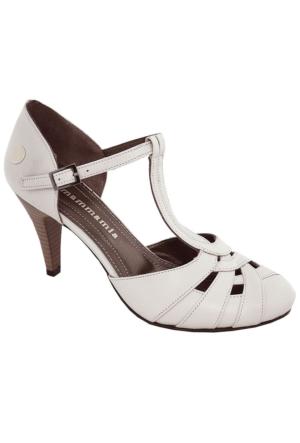 Mammamia D17Ya-3665 Kadın Deri Topuklu Ayakkabı Bej