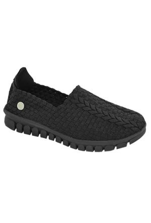 Mammamia D17Ya-4415 Kadın Lastikli Ayakkabı Siyah
