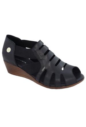 Mammamia D17Ys-1325 Deri Kadın Sandalet Siyah