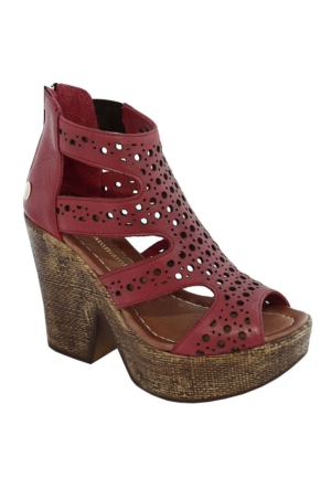 Mammamia D17Ys-1795 Deri Kadın Sandalet Kırmızı