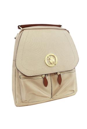 U.S. Polo Assn. 17171 Kadın Sırt Çantası Altın