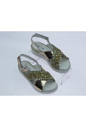 Pıcalo Kız Çocuk Taşlı Sandalet