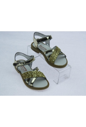Swety Kız Çocuk 3 Bant Simli Sandalet