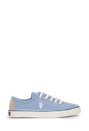 U.S. Polo Assn. Kadın Harper-Int Sneaker Ayakkabı Mavi