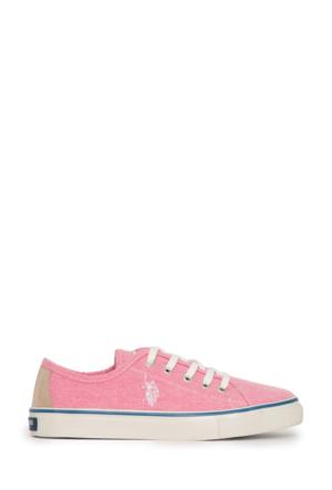 U.S. Polo Assn. Kadın Harper-Int Sneaker Ayakkabı Pembe