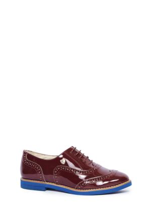 U.S. Polo Assn. Kadın K6Lux Oxford Ayakkabı Kırmızı