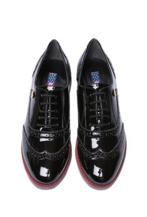 U.S. Polo Assn. Kadın K6Lux Oxford Ayakkabı Siyah
