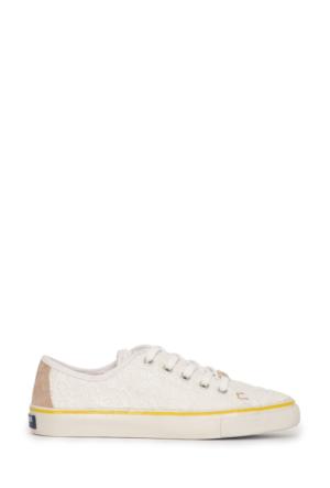 U.S. Polo Assn. Kadın Sage-Int Sneaker Ayakkabı Beyaz