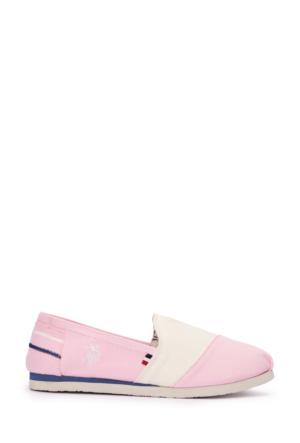 U.S. Polo Assn. Kadın Y6Huffy-E Espadril Ayakkabı Pembe