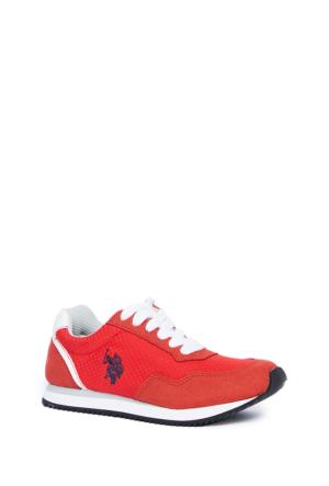 U.S. Polo Assn. Erkek Çocuk Y6Nutty Spor Ayakkabı Kırmızı